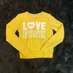 Yellow PINK pullover (no hood)